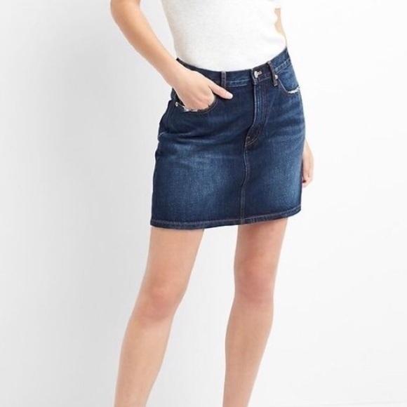 GAP Dresses & Skirts - ❗️last GAP stretch denim high waisted mini skirt